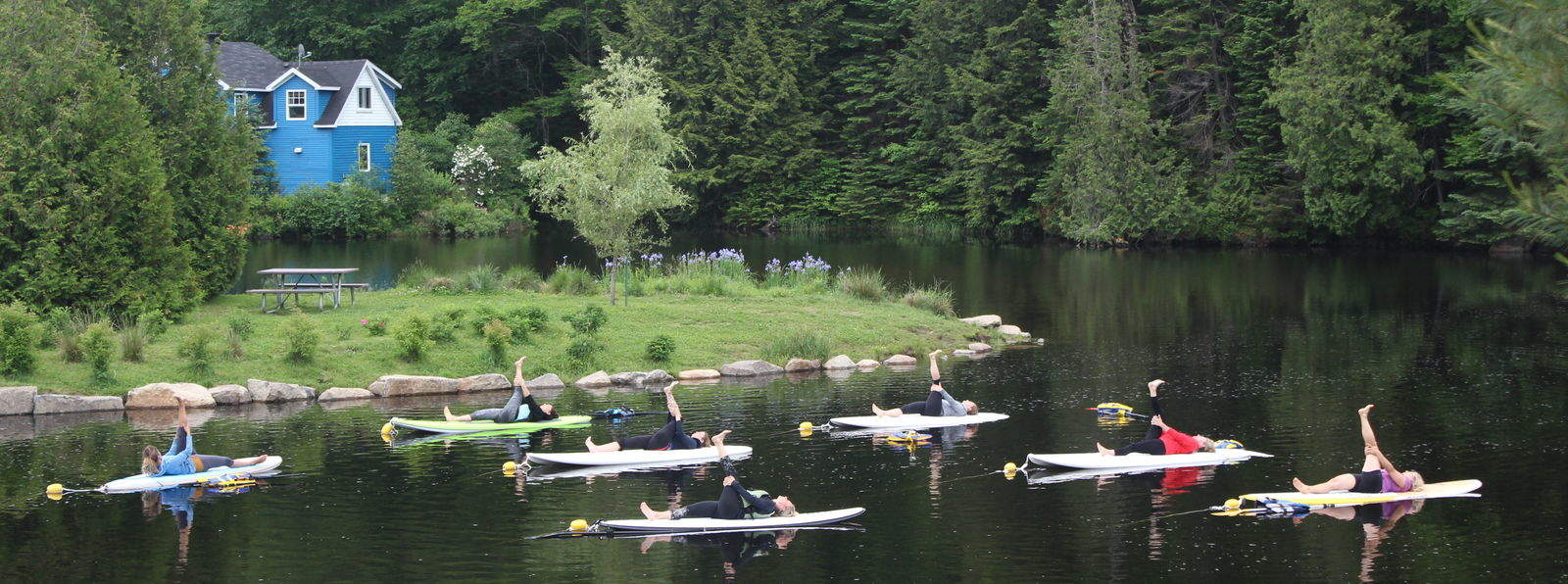 Sup yoga à Morin Heights