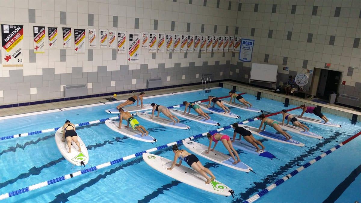 Cours de Sup Fitness en piscine - EchoAloha